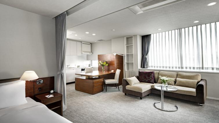 Living area at Somerset Azabu East Apartments - Citybase Apartments