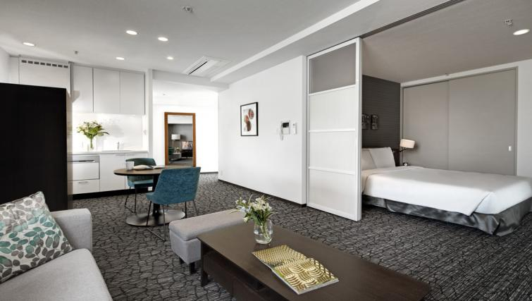 Living room at Somerset Azabu East Apartments - Citybase Apartments