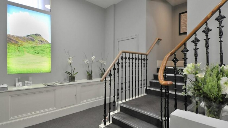 Inviting hallway in St. Andrew Square Apartments - Citybase Apartments