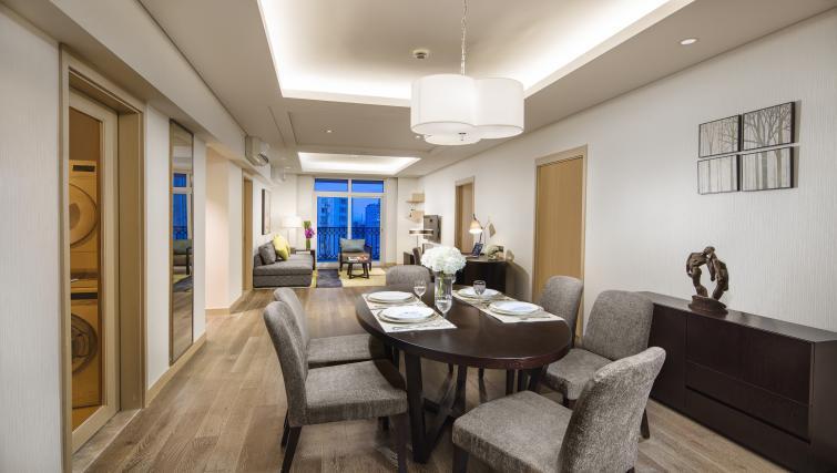 Dining area at Somerset Xu Hui Apartments - Citybase Apartments