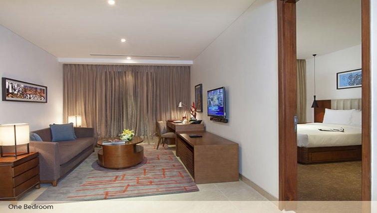 Luxurious living area Oakwood Prestige Whitefield Residence Bangalore - Citybase Apartments