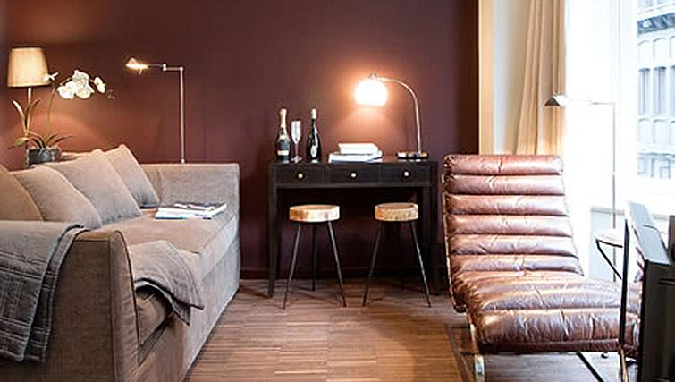 Cosy living area in Nyhuset Apartments - Citybase Apartments