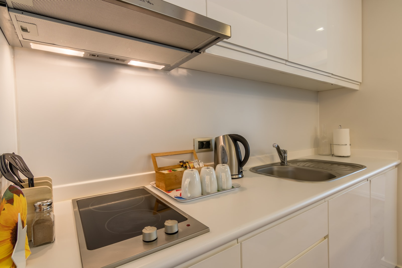 Fully equipped kitchen at Aura Suites - Citybase Apartments