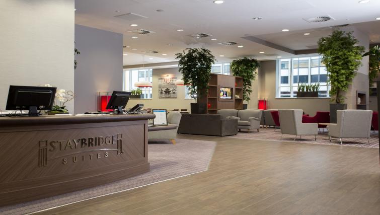 Reception in Staybridge Suites Birmingham - Citybase Apartments