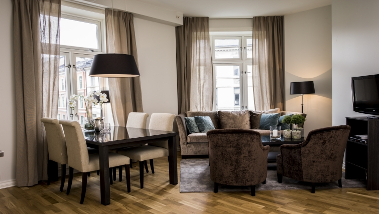 Gorgeous living area in Frydenlundgata Apartments - Citybase Apartments