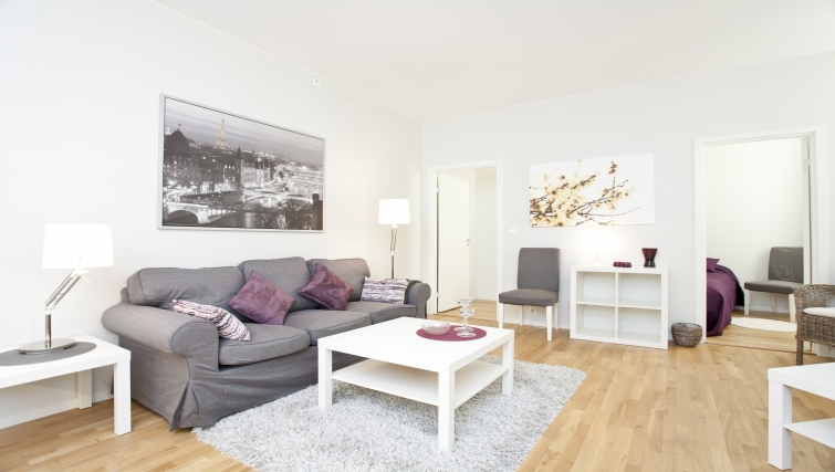 Cosy living area in Parkveien Apartments - Citybase Apartments