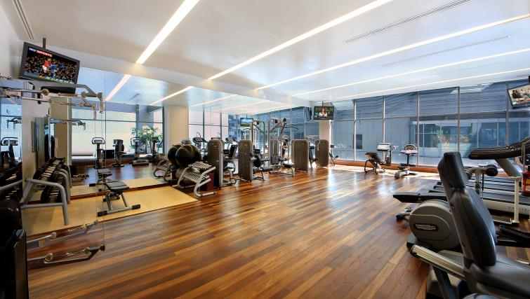 On-site fitness centre at ingapore Orchard Suites, Singapore - Citybase Apartments