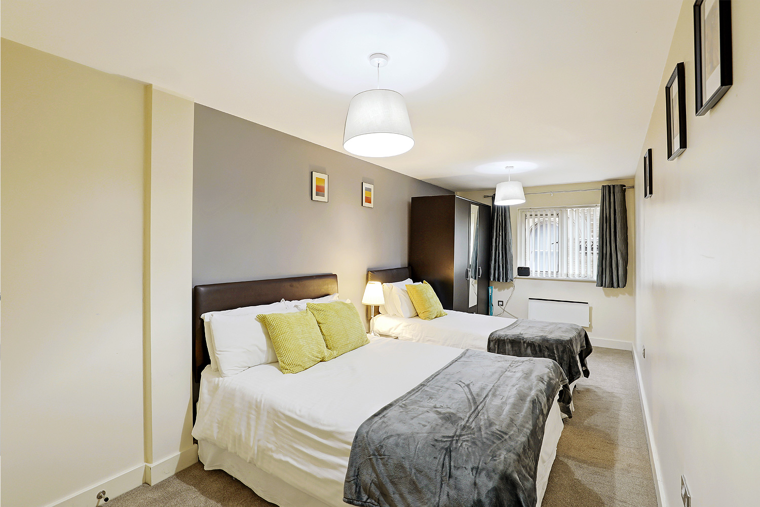 Spacious bedroom at Templar House - Citybase Apartments