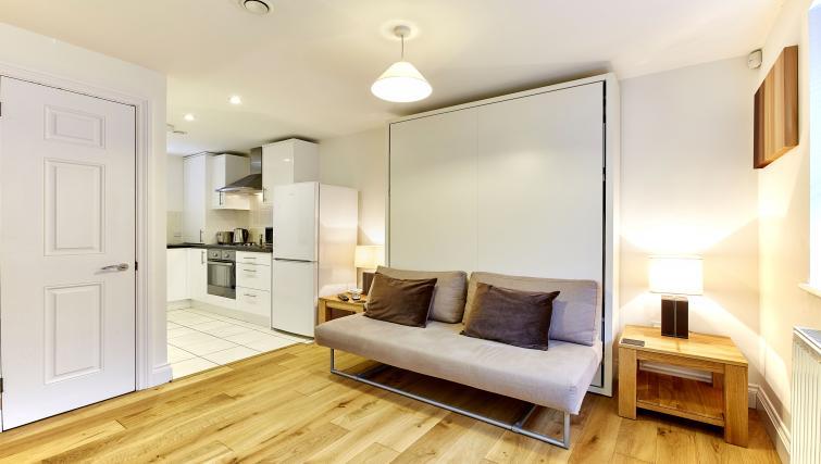 Sofa at Hendry Court Apartments - Citybase Apartments