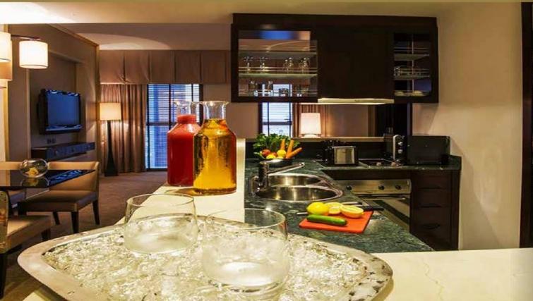 Kitchen at Dusit Thani Dubai Apartments - Citybase Apartments