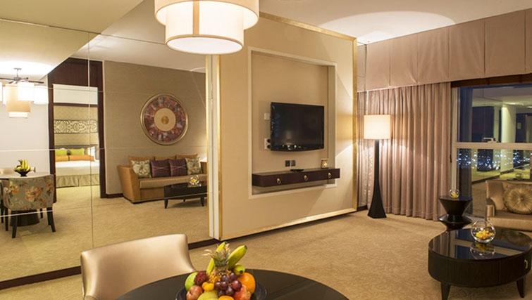 Modern living area at Dusit Thani Dubai Apartments - Citybase Apartments