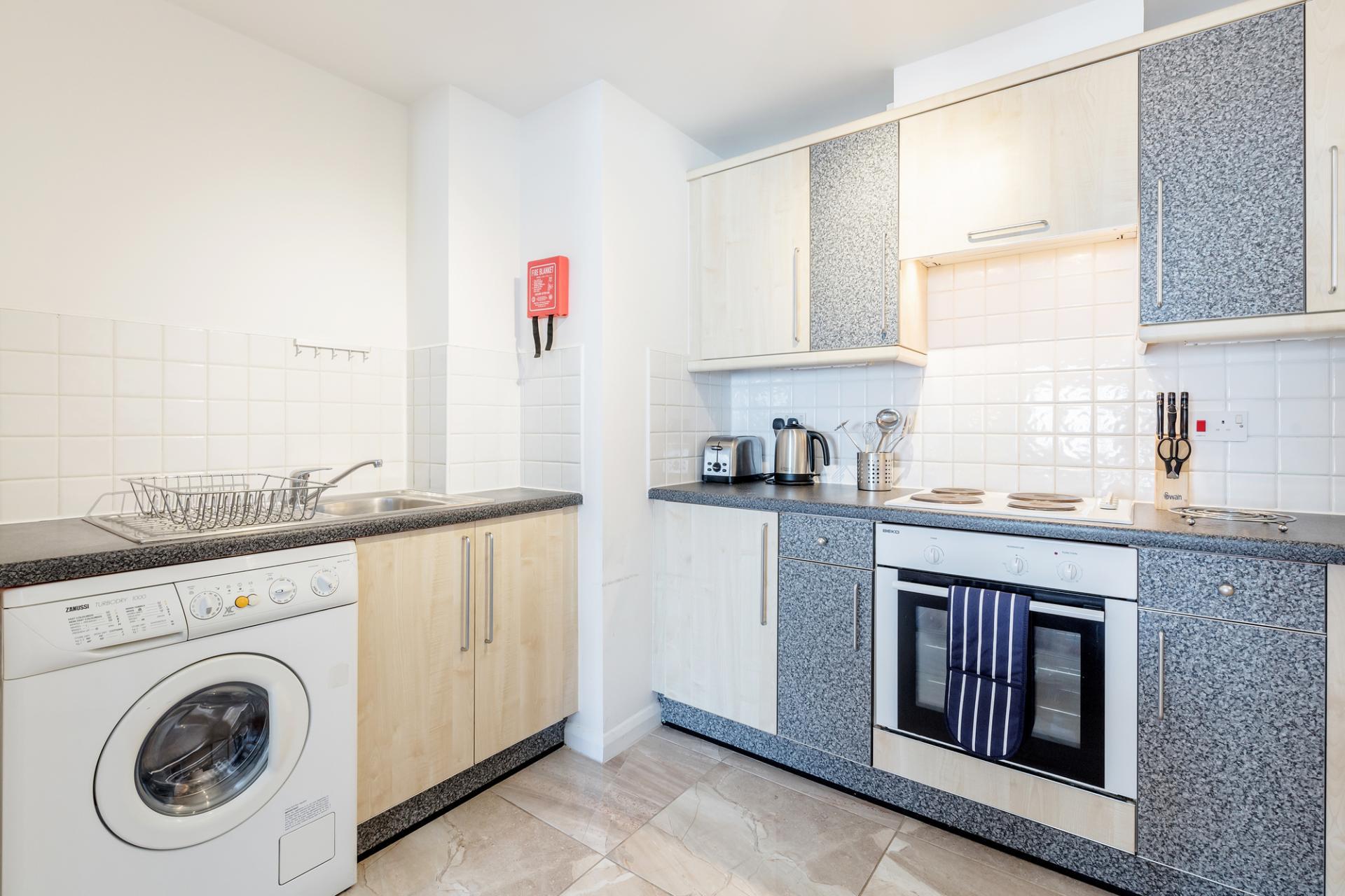 Kitchen at Regents Court, Kingston upon Thames, London - Citybase Apartments