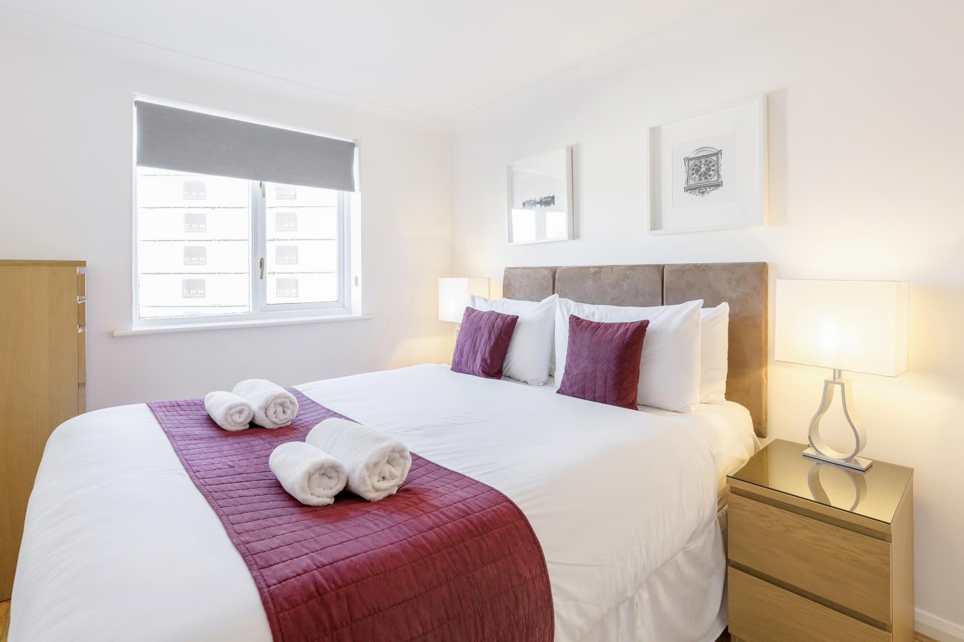 Bedroom at Regents Court, Kingston upon Thames, London - Citybase Apartments