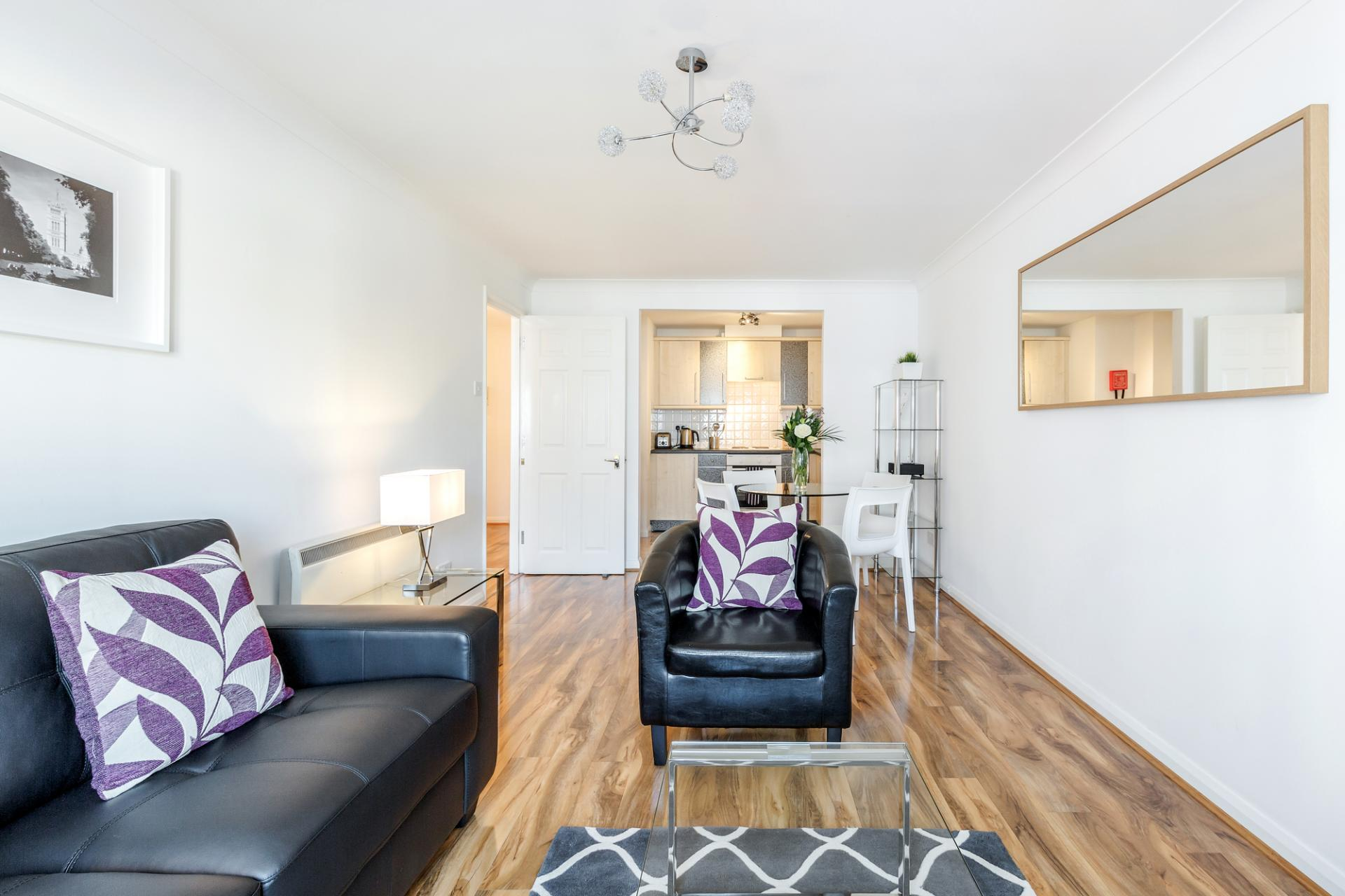 Sofas at Regents Court, Kingston upon Thames, London - Citybase Apartments