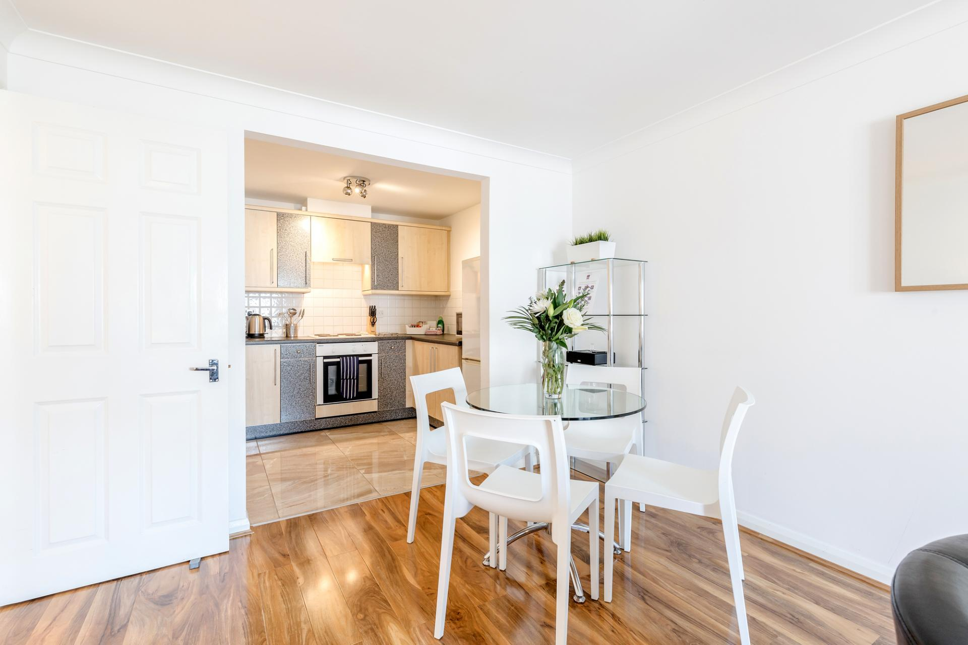 Dining area at Regents Court, Kingston upon Thames, London - Citybase Apartments