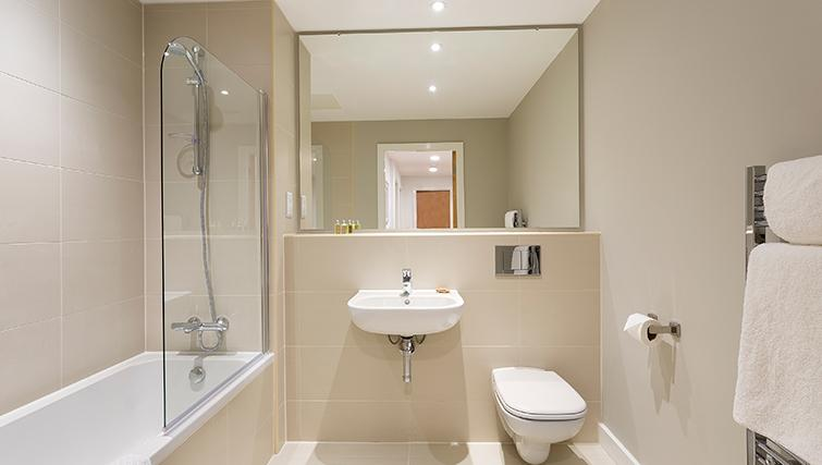 Pristine bathroom in SACO Manchester - Piccadilly - Citybase Apartments