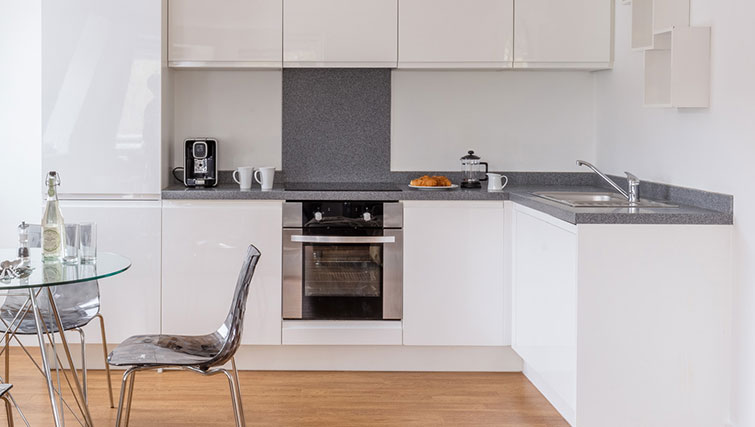 Equipped kitchen in SACO Manchester - Piccadilly - Citybase Apartments