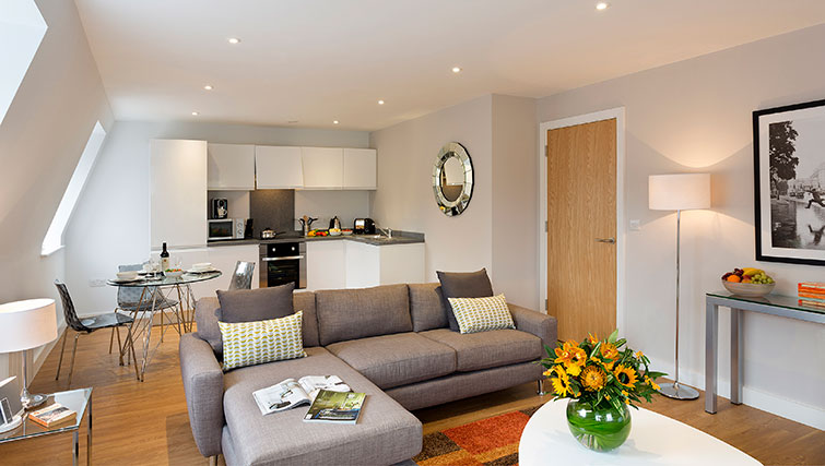 Open-plan living in SACO Manchester - Piccadilly - Citybase Apartments