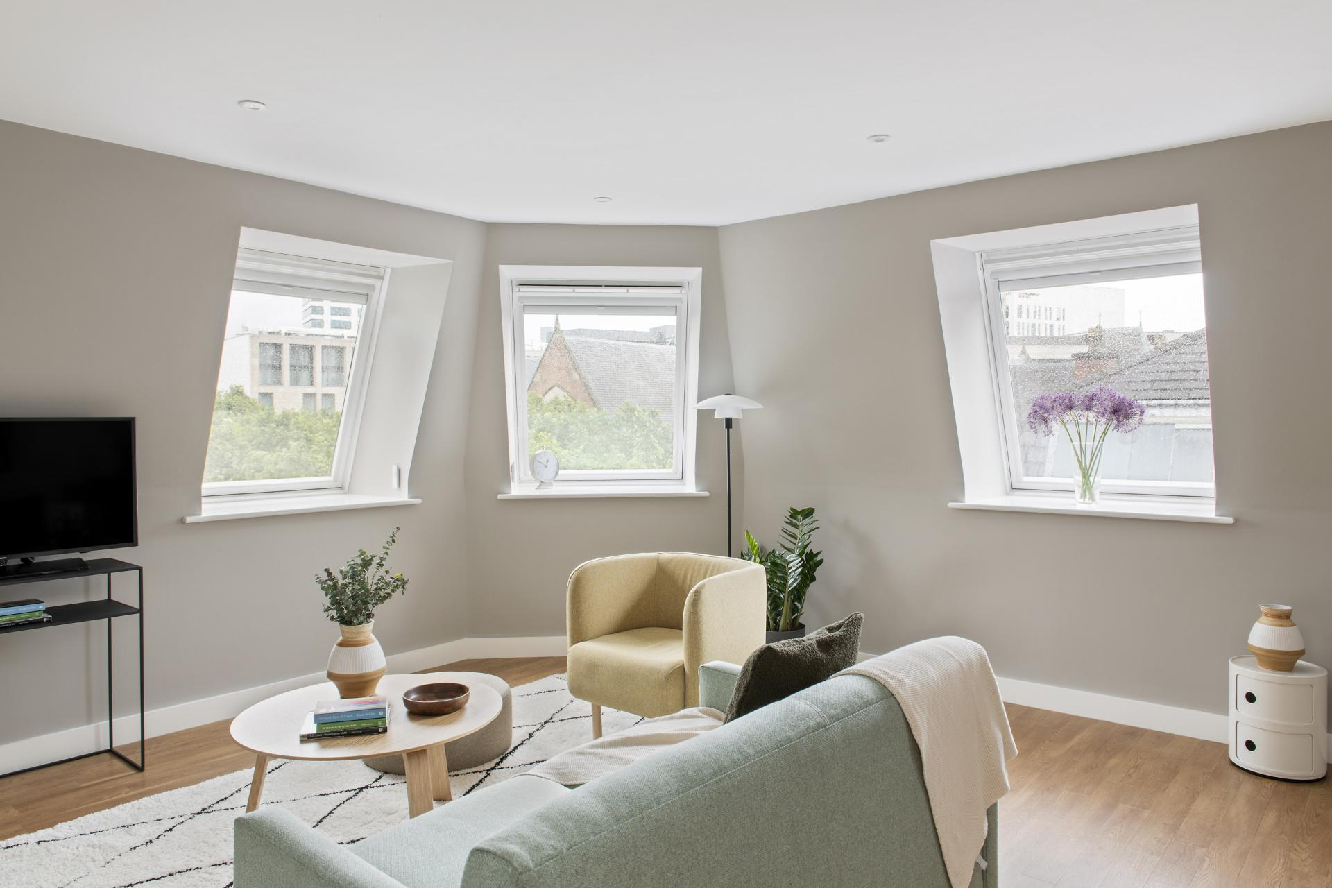 Sofa at Cove Minshull Street, Piccadilly, Manchester - Citybase Apartments