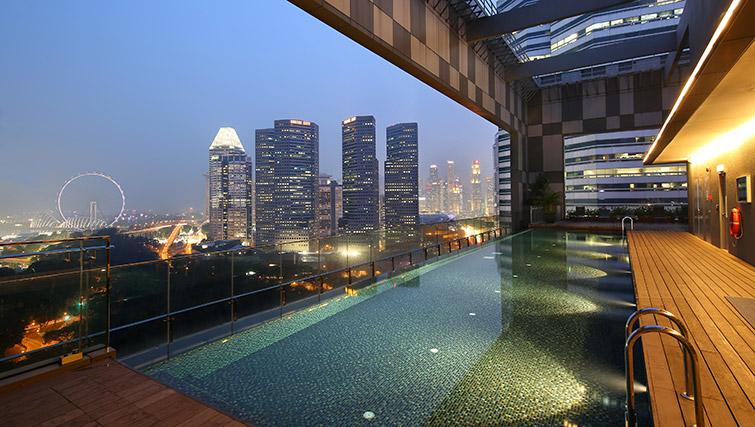 Pool at Pan Pacific Serviced Suites Beach Road, Singapore - Citybase Apartments