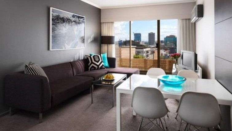 Delightful living area in Adina Apartment Hotel Sydney, Surry Hills - Citybase Apartments