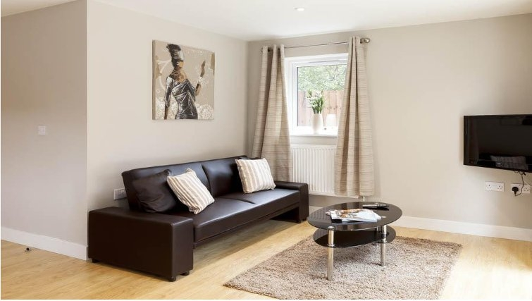 Sophisticated living area in Saracens Court Apartments - Citybase Apartments