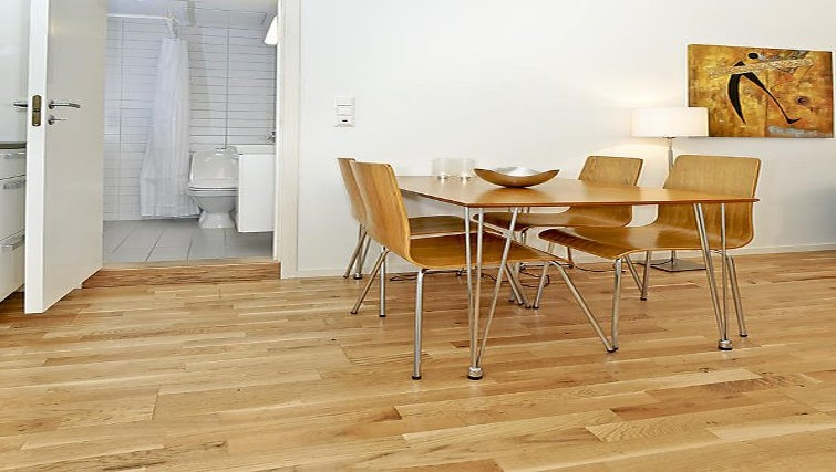 Living area in a 1 bed apartment at Sven Bruns Gate Apartments - Citybase Apartments
