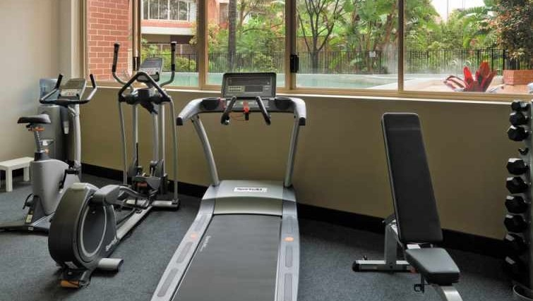 Well equipped gym at Medina Serviced Apartments North Ryde - Citybase Apartments