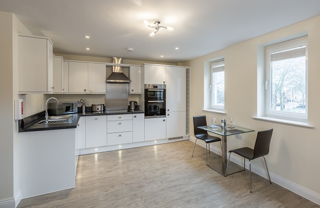 Modern kitchen at Central Point Apartments - Citybase Apartments