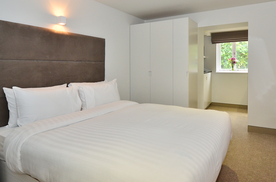 White bed linen at So Arch Way Apartments - Citybase Apartments