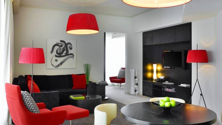 Contemporary living area in W Doha Hotel & Residences - Citybase Apartments