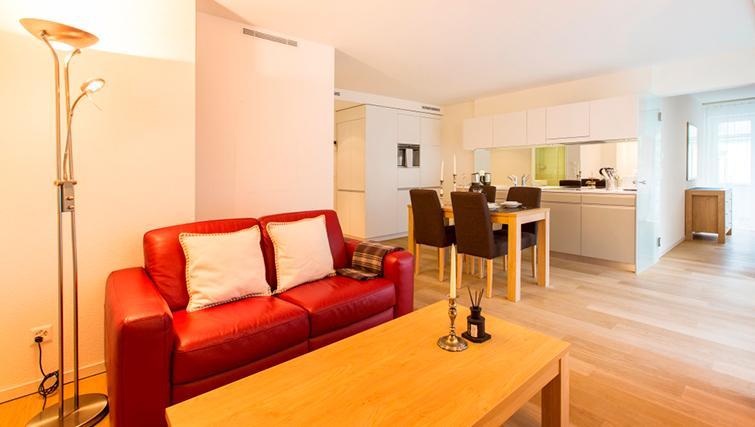 Living area at Freigut 26 Apartments - Citybase Apartments