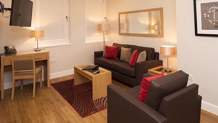 Spacious living area in 100 Kings Road Apartments - Citybase Apartments