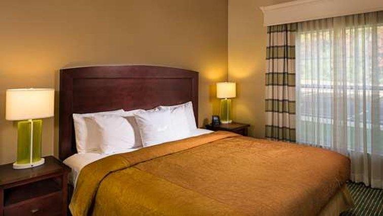 Comfortable bedroom in Homewood Suites Boston Billerica - Citybase Apartments