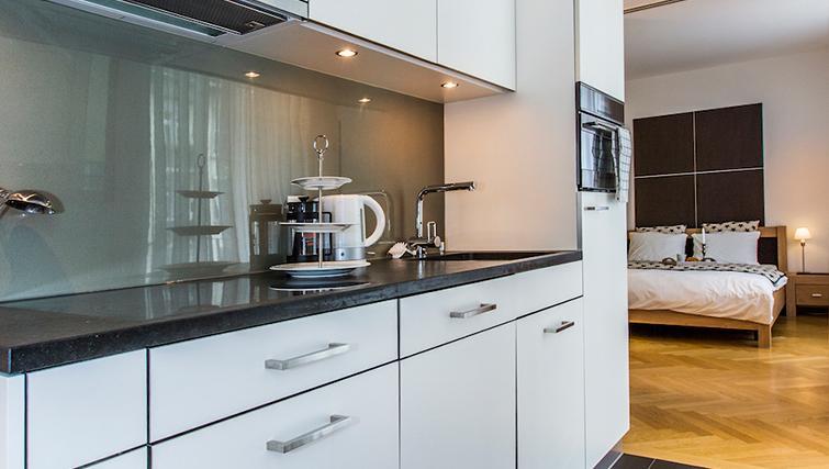 Modern kitchen at Eidmatt Apartments - Citybase Apartments