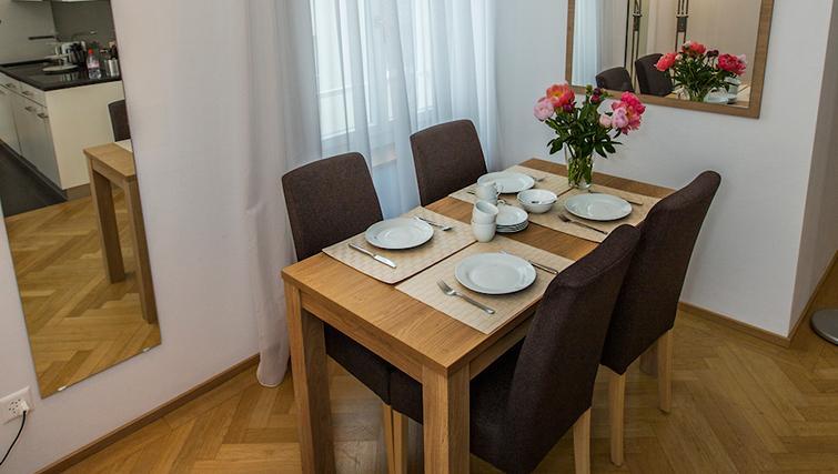 Dining area at Eidmatt Apartments - Citybase Apartments