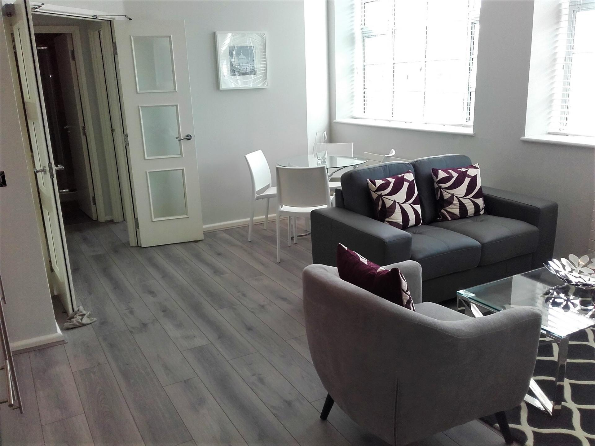 Living room at Princes House Apartments - Citybase Apartments