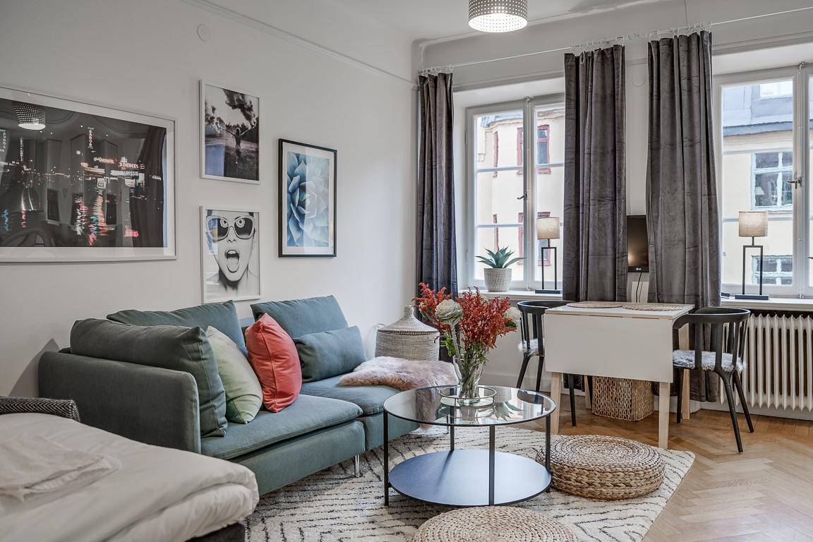Open-plan at Rörstrandsgatan Apartments, Vasastan, Stockholm - Citybase Apartments