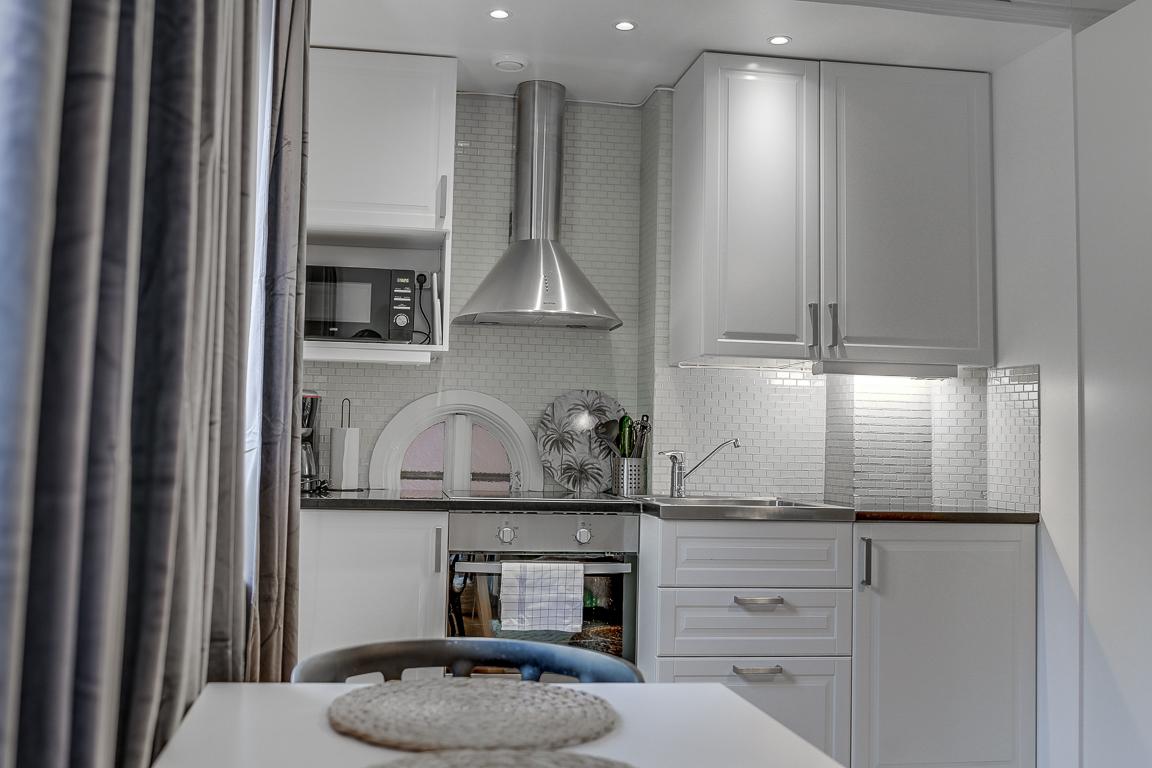 Sleek kitchen at Rörstrandsgatan Apartments, Vasastan, Stockholm - Citybase Apartments