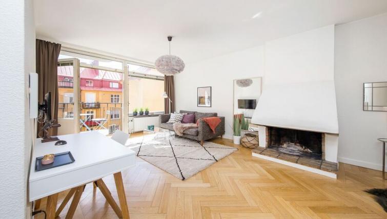 Fantastic living area at Grevgatan Apartments - Citybase Apartments