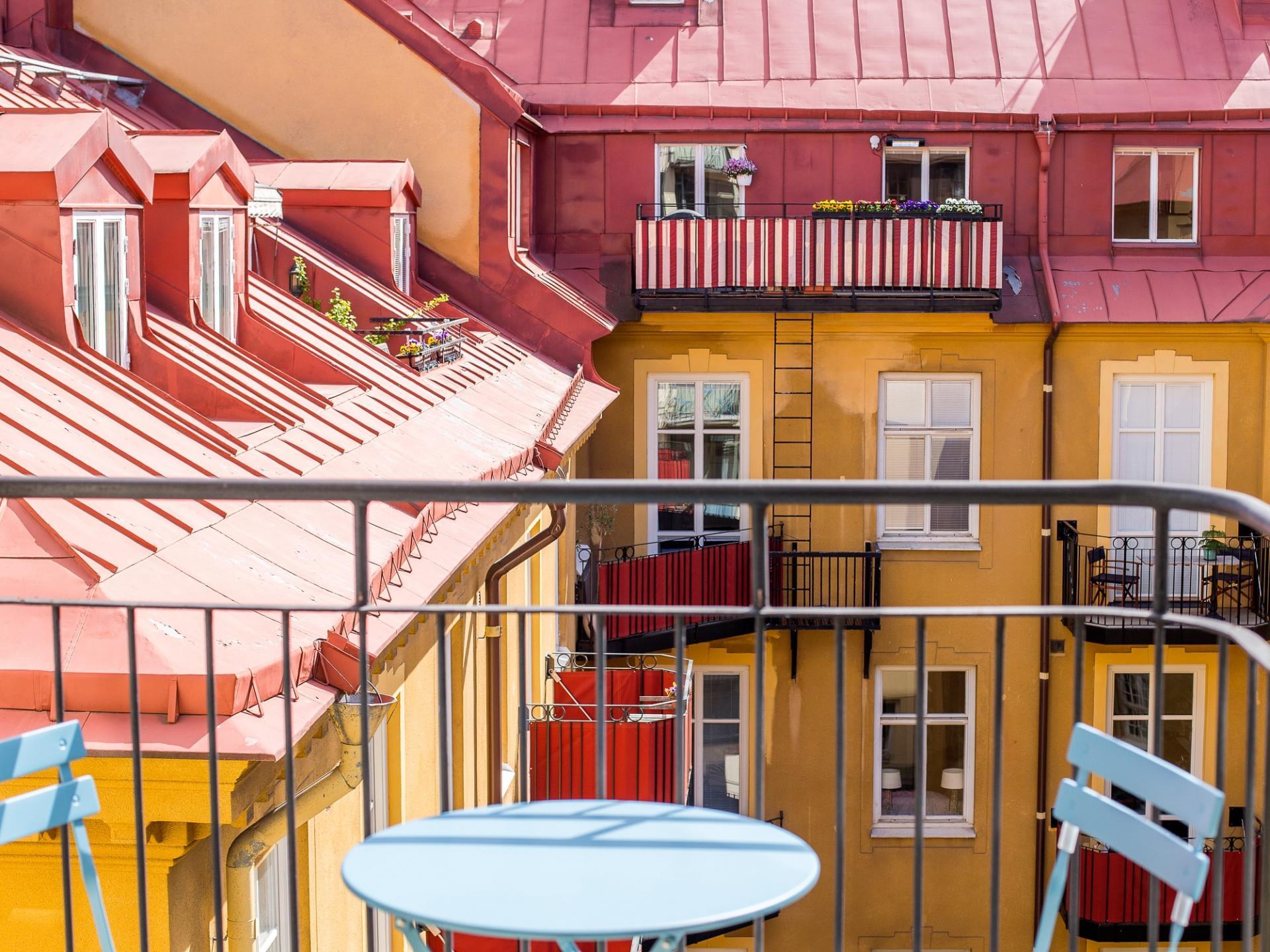 Balcony view at Grevgatan Apartments - Citybase Apartments