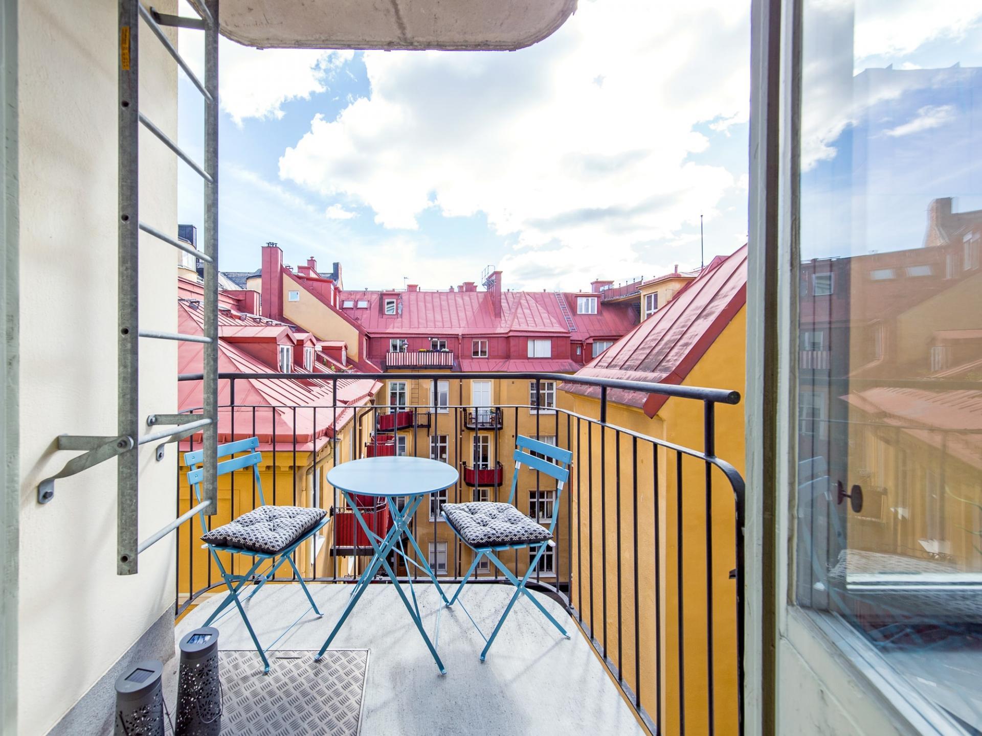 Balcony at Grevgatan Apartments - Citybase Apartments