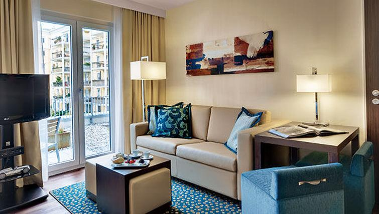 Practical living area in Residence Inn Munich City East - Citybase Apartments
