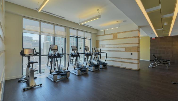 Fitness centre in 300 Front Street West Delsuites - Citybase Apartments