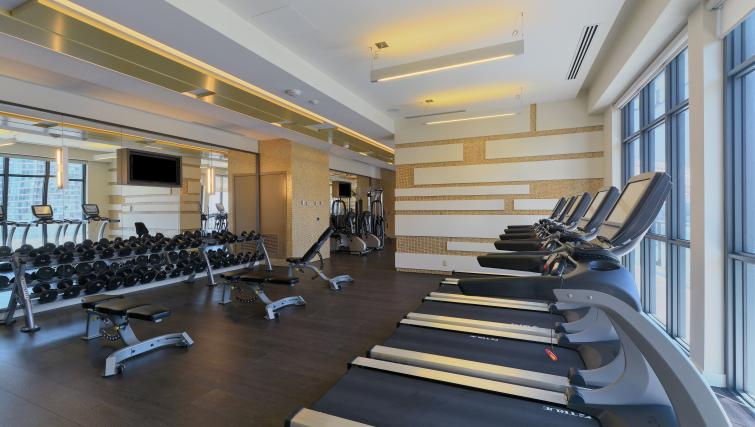 Gym in 300 Front Street West Delsuites - Citybase Apartments
