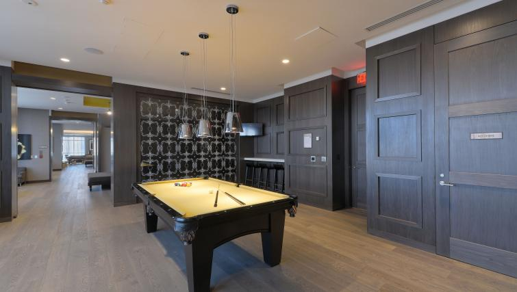 Billiards room in 300 Front Street West Delsuites - Citybase Apartments