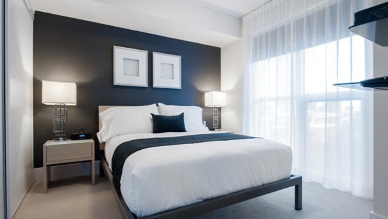 Divine bedroom in 300 Front Street West Delsuites - Citybase Apartments