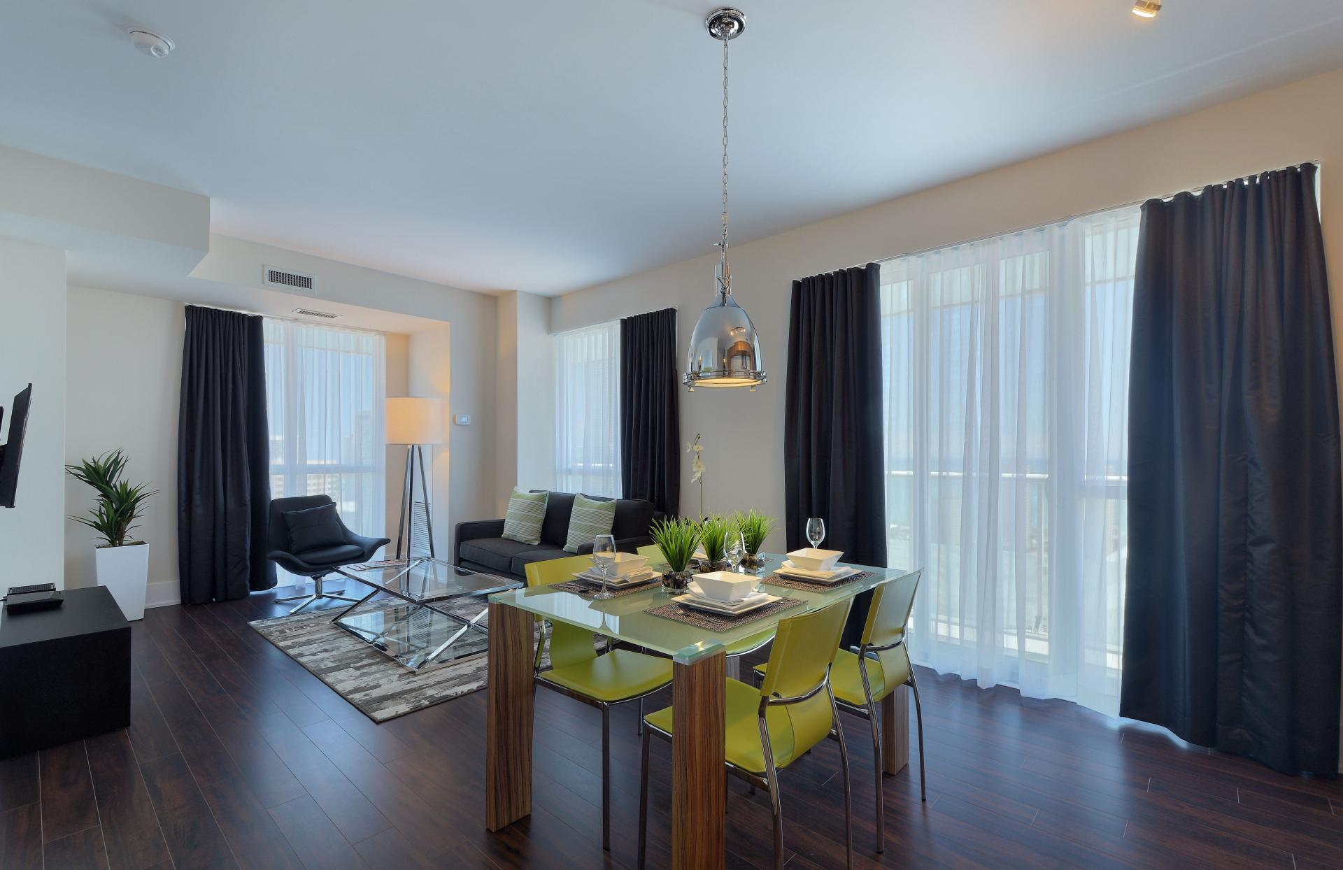 Dining area at 300 Front Street West Delsuites - Citybase Apartments