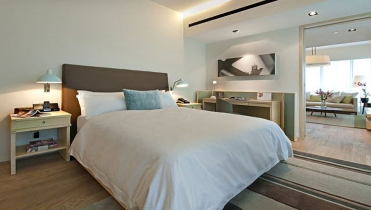 Tranquil bedroom in Lanson Place Bukit Ceylon Serviced Residences - Citybase Apartments