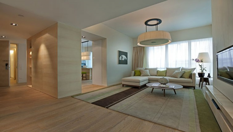 Spacious living area in Lanson Place Bukit Ceylon Serviced Residences - Citybase Apartments